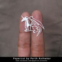 miniature papercut - Dragon by ParthKothekar