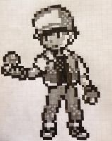 8-Bit Pokemon Trainer Red by PrinceKaname