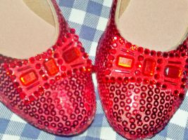 Close-Up of Ruby Slippers Bows by TheWizardofOzzy