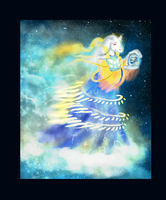 Contest entry: Goddess of Space and time. by KagedFreedom