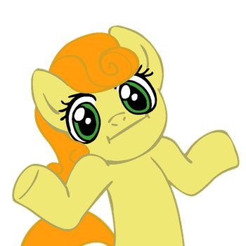 Shrugpony CarrotTop by MoongazePonies