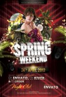 Spring Weekend Flyer by caniseeu