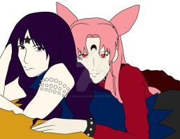 Mistress 9 and Black Lady WIP by christi-chan