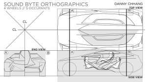Honda Sound Byte Orthographics by Dannychhang