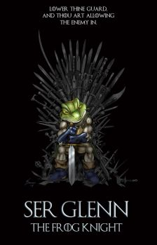 Frog sits the Iron Throne by Toadman005