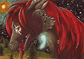 Midnight Gaze ACEO by Redwall151