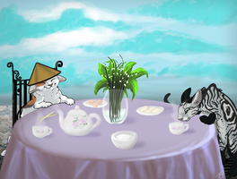 tea party by meeshmoose