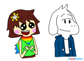 UT: Shiftswap Chara and Asriel by MixelTime