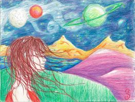 Drops Of Jupiter In Her Hair by WildlyWickedArt