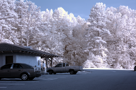 Shot of a parking lot in IR by cloudcity