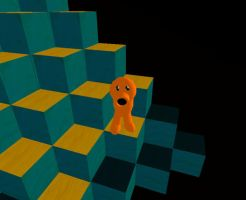 Q-bert in 3D by SladeJT
