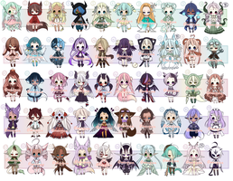 ADOPTS: 50 Mixed Batch [5/50 OPEN] by Mewpyonadopts