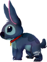 Stitch Dog by SahGlam29