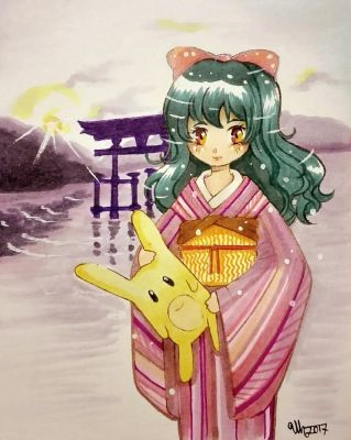 Young Umiko with Hoshi by umikohoshi