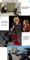 Cosplay: FF7 bloopers by Kitara88