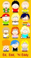 Ed, Edd, N Eddy South Park by killALLthezombies