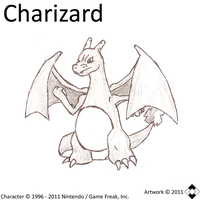 Charizard Sketch by NS-Games