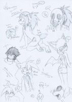 .:Sonic:. Sketches of my newest/updated charas o3o by SilverfanNumberONE