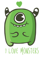 I love monsters by DoodleBros