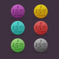 ROUND COLORFUL PRICE TAG by FreePSDDownload