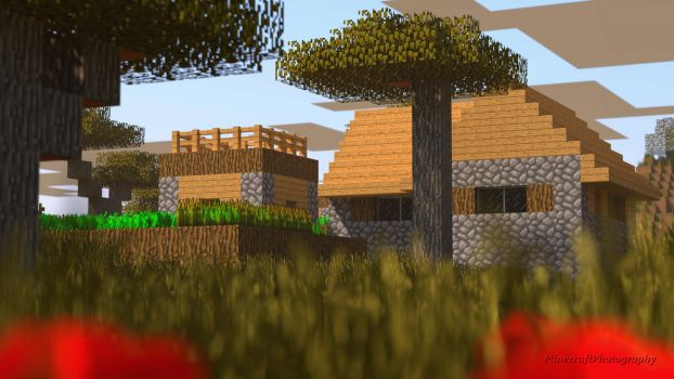 Testificate Village Wallpaper by MinecraftPhotography