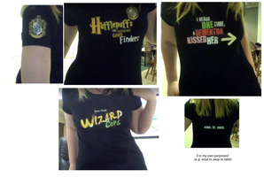 Some 'Very Potter' Shirts by Biscuits-and-Jam