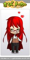 grell that i made in chiby maker by LyveRockPegasus