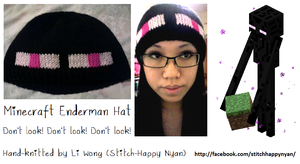 Knitted Minecraft Enderman Hat by Stitch-Happy