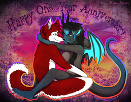 Commish: Happy One Year Anniversary! by Bunny-Bones