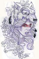 wolfgirl by BrentSmith-aloadofBS