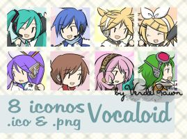 Iconos Vocaloid by verderawr