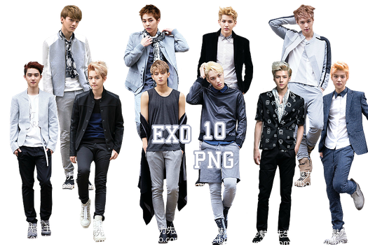 EXO's PNG Pack {Men's Style November 2013 Issue} by kamjong-kai