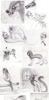 Sketch dump 9 by Vongrell
