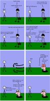 Gibble and Worm Comic - Hat? by Luciferspet