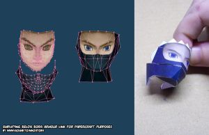 3simplifying Link 2 papercraft by ninjatoespapercraft