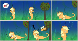 [MLP] Sea-pony Applejack's problem by UltraTheHedgetoaster