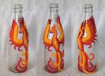 Phoenix on a bottle by GabriellesBabrielles