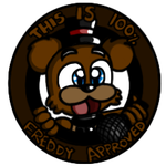 100 percent Freddy approved Button by FnafFanOf1987