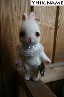 A young white rabbit. Alice in Wonderland. by Ynik-name