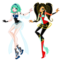 Tesla and Kiya Angel Starz by SamoanVampCatt