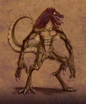 WolfLizard by Omegaprimus