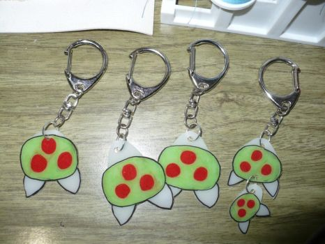 Metroid keychains by VickyJ