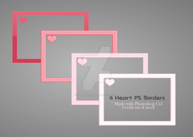 [4] Heart Borders by LucarioRose24