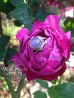Amethyst and Sterling Silver Wire Ring by WireMoonJewelry