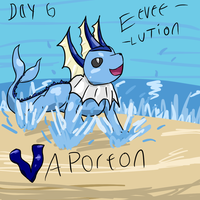 Vaporeon 30 day challenge by HoneyShuckle