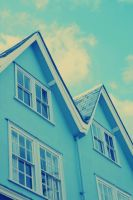 blue houses by belletrie