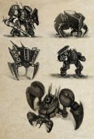 Mech Sketches by Brobossa