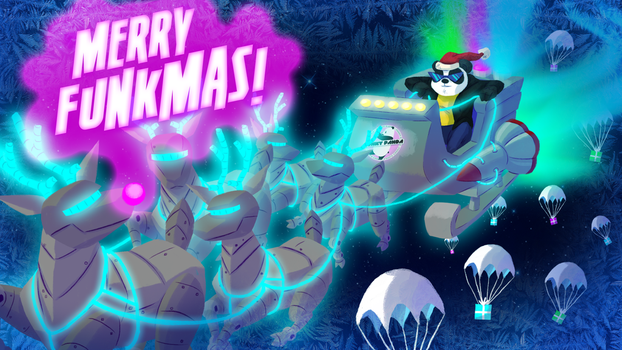 Merry Funkmas Wallpaper - By HappyDoodlesStudio by FunkyyPanda