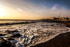 Colourful Skies Overlooking Porthcawl Beach Jan 13 by welshrocker