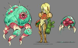 Metroid SD 1 by MarvelousCoconuts